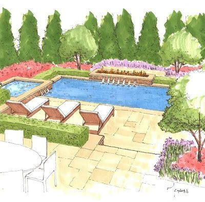 Pool Design Sketch from Crystal Blue Aquatics