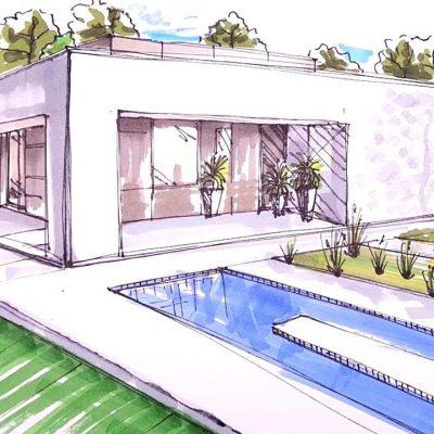 Pool Designer Sketch from Crystal Blue Aquatics